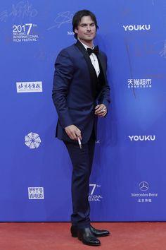 Ian Somerhalder Photos Photos - American actor Ian Somerhalder arrives at the red carpet of the 7th Beijing International Film Festival on April 16, 2017 in Beijing, China. 2017 Beijing International Film Festival (BJIFF) - Red Carpet & Opening Ceremony