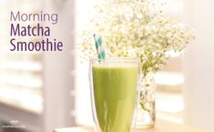Morning Matcha Smoothie recipe. Made with Steeped Tea's Matcha, Green Tea. Which flavor of Matcha would you use? Classic, Pineapple Punch Matcha, Sweet Strawberry Matcha or Melon Ball Matcha?