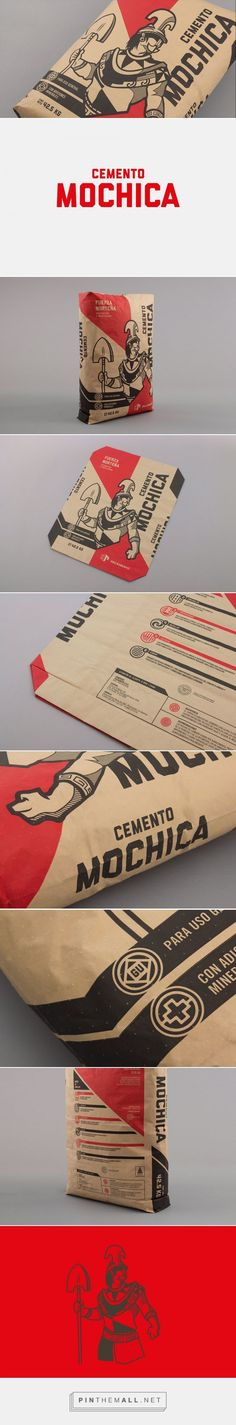 "Cemento Mochica via The Dieline - Branding & Packaging by Studio A - Interbrand curated by Packaging Diva PD.  A leading brand of cement in Peru, worked to create packaging for their new line of low-cost products that would create a stronger relationship with the company's consumers (builders and construction workers). With a difficult challenge at hand, ""Mochica"" was born."