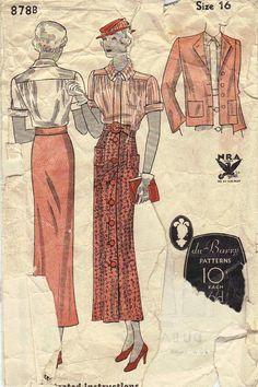 Vintage 1930s sewing pattern
