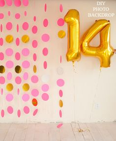 DIY photo backdrop | simple photobooth substitute!
