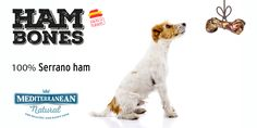 Ham Bones for dogs of Mediterranean Natural : 100% Serrano ham. Ideal for strengthening your pet's teeth whilst removing tartar