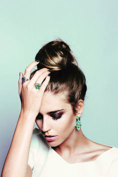 Clara Alonso - large earrings and a bun looks chic for dirty hair days