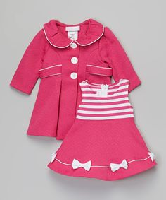 Look at this Fuchsia Stripe Dress