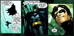 Batman & Nightwing. As much as he does anyone, Bruce loves Dick as a father loves a son.