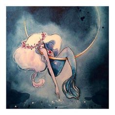 I´m Sol, I love art, illustration,photography and basically anything that inspires me. You´re. Mermaid Drawings, Mermaid Art, Art Drawings, Mermaid Paintings, Vintage Mermaid, Baby Mermaid, Fantasy Mermaids, Mermaids And Mermen, Real Mermaids