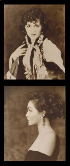 above - Ziegfield Girl Helen Jesmer c1920 / below - her daughter, dancer and actress, Julie Newmar aged 17 c1950. Both photographs are by Alfred Cheney Johnson.