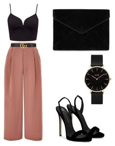 """""""Untitled #27"""" by madebysatan on Polyvore featuring Topshop, Gucci, Giuseppe Zanotti, Rebecca Minkoff and CLUSE"""
