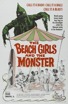 """The Beach Girls and the Monster (1965) Horror ----- A movie more to be seen for it's numerous go-go dancing scenes than the """"horror"""""""