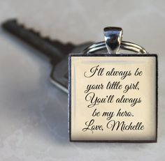 Father of the Bride Key Chain  I'll always be by NowThatsCharming