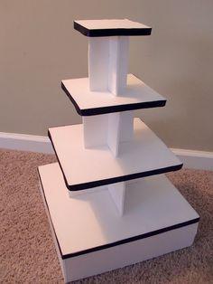 Cupcake Stand DIY with foam board