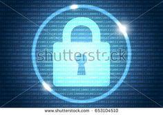 Blue Future Technology Internet Security Background Vector Illustration Vector Technology, Illustration, Image, Illustrations