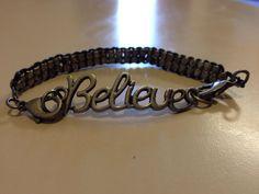 Inspirational Believe Metal Bracelet by originalsbyem on Etsy Metal Bracelets, Believe, My Etsy Shop, Inspirational, Silver, Jewelry, Jewlery, Money, Bijoux