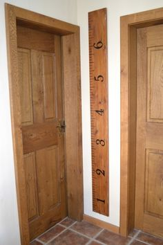 Wish I had done this earlier - Turn a 2x4 into a large ruler for the wall, and record the height of your kids as they grow. You never have to worry about moving to a new house
