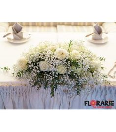 Aranjament masa prezidiu - trandafiri si floarea miresei Wedding Bouquets, Table Decorations, Art, Craft Art, Bridal Bouquets, Wedding Brooch Bouquets, Wedding Bouquet, Kunst, Wedding Flowers