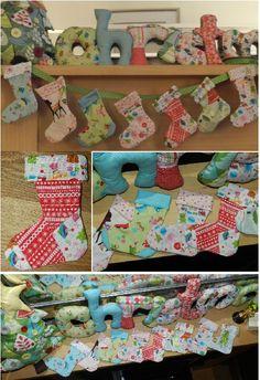 Christmas Stocking Bunting: Tutorial #rileyblakedesigns #christmas #tutorial
