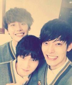 CNBLUE's Jonghyun, Lee Jong Suk, and Kim Woo Bin spotted filming for 'Running Man'