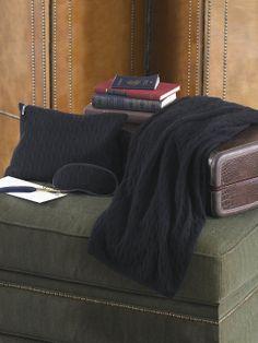 Cabled Cashmere Travel Set - Throws   Home - RalphLauren.com