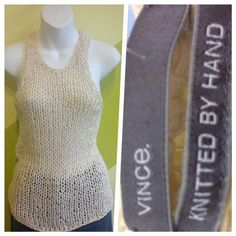 Vince, Knitted by hand top- Size XS $16.50 — at The Bottomline Resale Boutique.