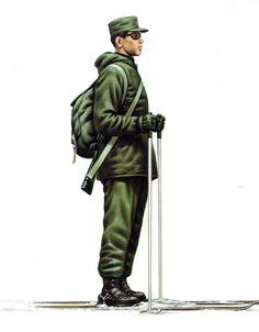 Uniformes del Ejército de Chile de 1970, mountain troops, pin by Paolo Marzioli