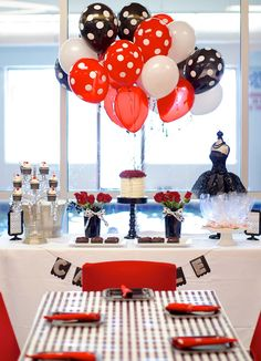 Birthday Party | Black White Red — Celebrations at Home