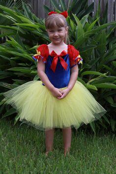 Snow white inspired custom Halloween costume tutu