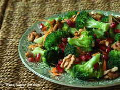 Broccoli and Pomegranate Salad by Transylvanian Kitchen