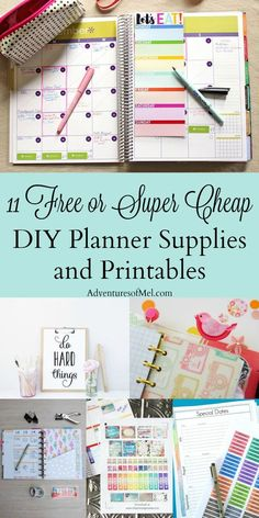 Where would I be wit Where would I be without my planner? I love my Happy Planner and my semi-obsession led me to compile a list of free or super cheap DIY planner supplies and printables. Get all sorts of planner ideas to feed your own obsession! To Do Planner, Free Planner, Planner Pages, Printable Planner, Planner Ideas, 2015 Planner, Planner Diy, Blog Planner, Discbound Planner