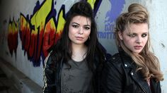 "Love the 50's greaser look - Miranda Cosgrove and Chloe Moretz in ""Our Deal"" by Best Coast"