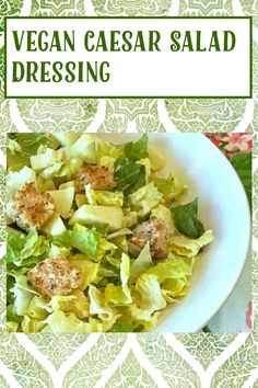 Vegan Caesar Dressing, Caesar Salad, Salad Dressing, My Recipes, Gluten Free Recipes, Vegan Recipes, Salad Toppings, Food Print, Cooking