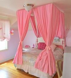 Custom Princess Voile Bed Canopy Four Poster Bed Hanging