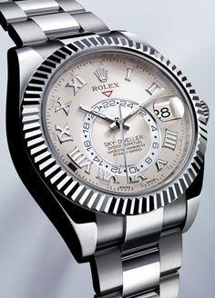 Rolex SKY-DWELLER - 40 mm diameter. White gold
