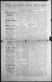 FAYETTE COUNTY, Kentucky - Lexington - 1890-1??? -The Lexington Record. « Chronicling America « Library of Congress