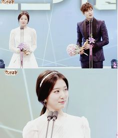 2013 SBS Drama Awards || Congratulations to Lee Min Ho and Park Shin Hye (The Heirs) for winning the best couple.