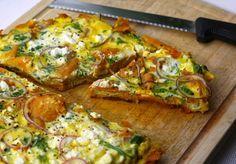 5 or less: Zoete aardappeltortilla met feta - result: delicious