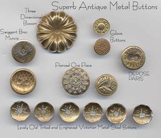 Superb Metals / Vintage Buttons, via Flickr.
