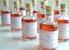 10 mini glass cork bottles for favors. 3.5 inch DIY wedding favours. Demijohn decanter. £14.00, via Etsy.