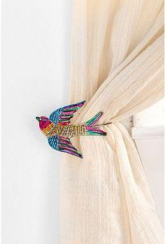 cute curtain holder