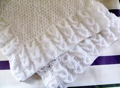 BABY BLANKET  by Susan Ward Easy to follow pattern requiring approx 400gms…