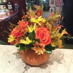 It's finally that time of year.  #flowers #florist #flowershop #design #mmflowers #style #princeton #nj #princetagram #fall #pumpkin