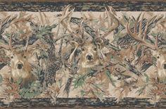 Camo Deer Wallpaper Border 1594 Book Name Lake Forest Lodge Pattern