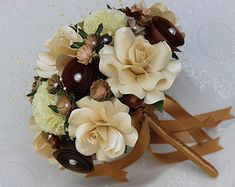 Paper Flower Bridesmaid Bouquets by MyArteasure on Etsy
