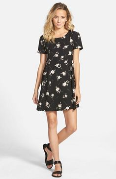 Lush+Print+Short+Sleeve+Swing+Dress+available+at+#Nordstrom