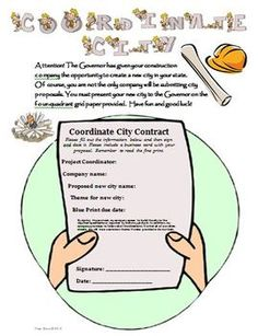 "Develop Your Own Coordinate City Resource! Customer quote: ""My 5th grade class is currently completing this project as a culmination of the unit. They absolutely love it!"" $"