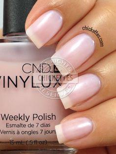 CND Vinylux Negligee - very subtle Cnd Nails, Manicure And Pedicure, Nail Polishes, Mani Pedi, Creative Nail Designs, Creative Nails, Sheer Nail Polish, Gel Polish, Nails Plus