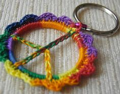 crochet keyrings peace - Google Search