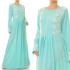 Long Blue Dress | Blue Maxi Dress | Blue Abaya Maxi Dress Long Sleeve | Long Sleeve Maxi Dress | Blue Bridesmaid Dress 6212 by Tailored2Modesty on Etsy