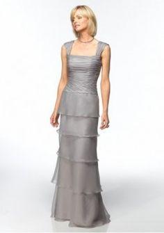 organza rouched lijfje met slanke een lijn moeder van de bruid jurk