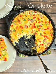 Western Omelette Frittata - New South Charm