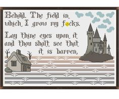 My Field of Fcks MATURE  Counted Cross Stitch by HornswoggleStore